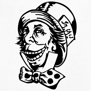 mad hatter troll face T-Shirts - Men's V-Neck T-Shirt by Canvas