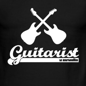 Guitarist - 2 guitars and text T-Shirts - Men's Ringer T-Shirt