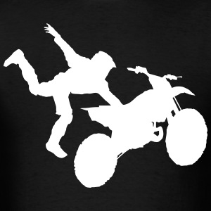 Motocross Dirt Bike Jump Stunt - Men's T-Shirt