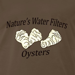 Oysters-Nature's Water Filters - Men's Premium T-Shirt