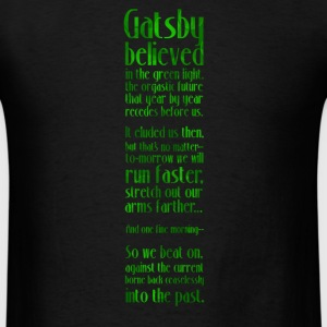Gatsby and the Green Light - Black - Men's T-Shirt