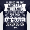 Blessed Are The Aircraft Mechanics Air Travel - Men's T-Shirt