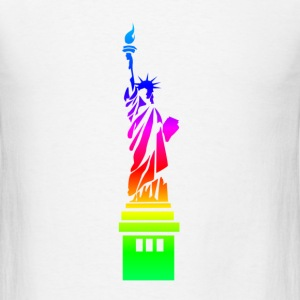 Rainbow Statue Of Liberty.png T-Shirts - Men's T-Shirt