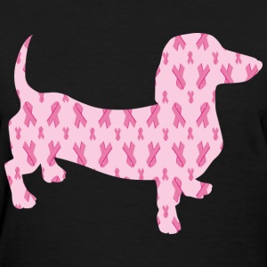Breast Cancer Awareness Dachshund - Women's T-Shirt