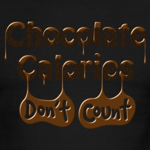 Chocolate Calories Don't Count - Diet Humor T-Shirts - Men's Ringer T-Shirt