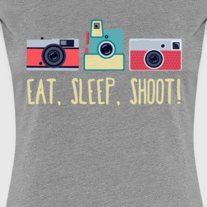 Eat, Sleep, Shoot Photography T-shirt Women's T-Shirts - Women's Premium T-Shirt