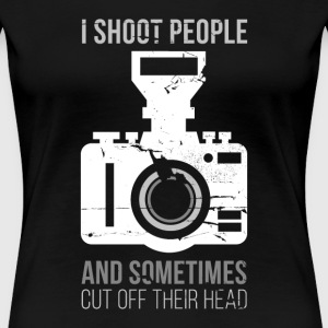 I Shoot People Photography T-shirt Women's T-Shirts - Women's Premium T-Shirt