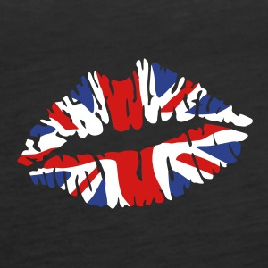 England flag lips Tanks - Women's Premium Tank Top