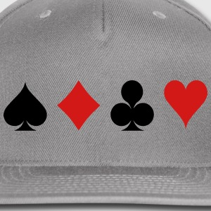 Card Game - Playind Card Caps - Snap-back Baseball Cap