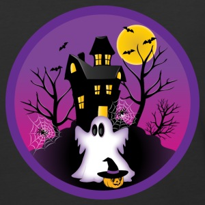 Spooky Halloween Ghost T-Shirts - Baseball T-Shirt