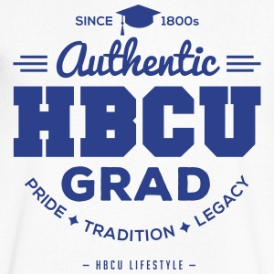 Authentic HBCU Grad T-Shirts - Men's V-Neck T-Shirt by Canvas