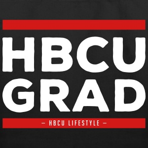 HBCU Grad Old School - Black, Red and Ivory Canvas - Eco-Friendly Cotton Tote