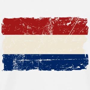 Holland Flag - Vintage Look  T-Shirts - Men's Premium T-Shirt