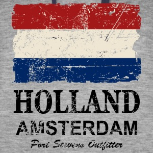 Holland Flag - Vintage Look  Hoodies - Colorblock Hoodie