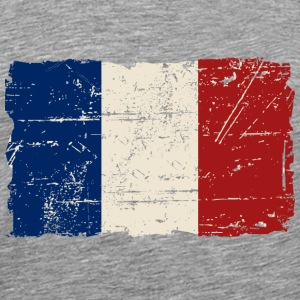 France Flag - Tricolour - Vintage Look  T-Shirts - Men's Premium T-Shirt