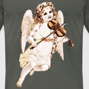 Violin playing Angel T-Shirts - Men's T-Shirt by American Apparel