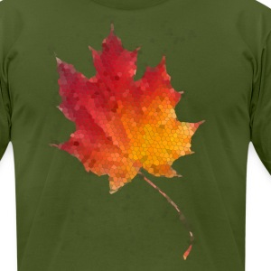 Autumn Leaf - Men's T-Shirt by American Apparel