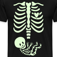 Design ~ Glow-in-the-dark Skeleton Maternity (Mens/Unisex Shirt)