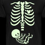 Design ~ Glow-in-the-dark Skeleton Maternity (Mens/Unisex Shirt)