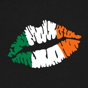 Irish flag lips T-Shirts - Men's V-Neck T-Shirt by Canvas