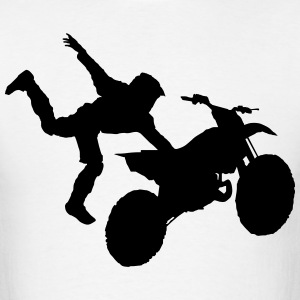 Motocross Dirt Bike Jump Stunt - Men's Light - Men's T-Shirt