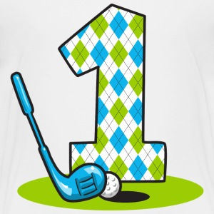 Argyle Golf 1st Birthday Baby & Toddler Shirts - Toddler Premium T-Shirt