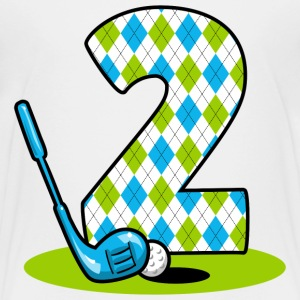 Argyle Golf 2nd Birthday Baby & Toddler Shirts - Toddler Premium T-Shirt
