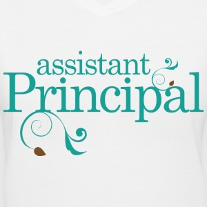 Assistant Principal (back to school) Women's T-Shirts - Women's V-Neck T-Shirt
