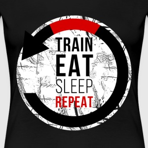 Train Eat Sleep Repeat Jiu Jitsu T-shirt Women's T-Shirts - Women's Premium T-Shirt