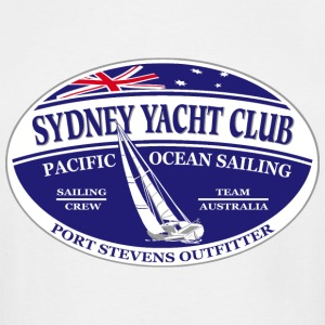 Pacific ocean sailing - Sydney Yacht Club T-Shirts - Men's Tall T-Shirt