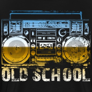 Old School Boombox Art - Men's Premium T-Shirt