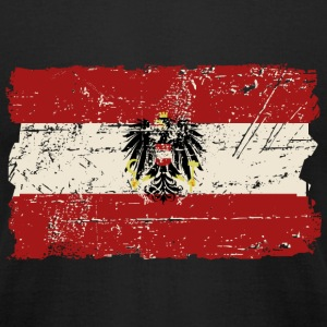 Austria Flag - Vintage Look  T-Shirts - Men's T-Shirt by American Apparel