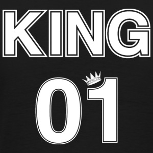 Couple Tshirt King 01 with Crown - Men's Premium T-Shirt