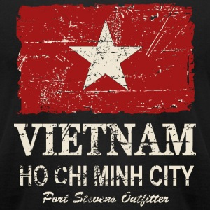 Vietnam Flag - Vintage Look  T-Shirts - Men's T-Shirt by American Apparel