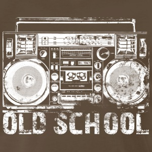 Old School Boombox Art by Bill Tracy - Men's Premium T-Shirt