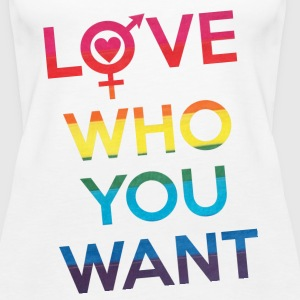 Love Who You Want LGBT Pride Tanks - Women's Premium Tank Top