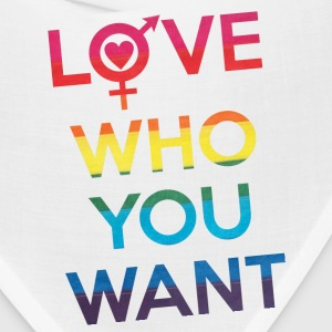 Love Who You Want LGBT Pride Caps - Bandana