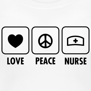 Love - Peace - Nurse Women's T-Shirts - Women's Maternity T-Shirt