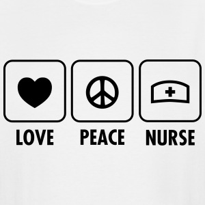 Love - Peace - Nurse T-Shirts - Men's Tall T-Shirt