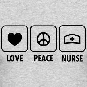 Love - Peace - Nurse Long Sleeve Shirts - Men's Long Sleeve T-Shirt by Next Level