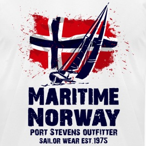 Maritime sailing - Norway flag - Vintage look T-Shirts - Men's T-Shirt by American Apparel