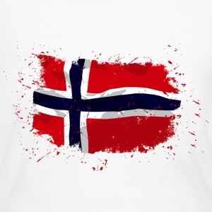 Norway flag - Vintage look Long Sleeve Shirts - Women's Long Sleeve Jersey T-Shirt