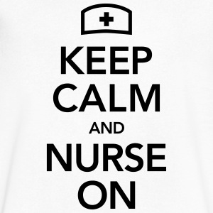 Keep Calm And Nurse On T-Shirts - Men's V-Neck T-Shirt by Canvas