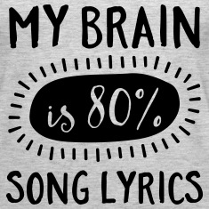 My Brain Is 80% Song Lyrics Tanks
