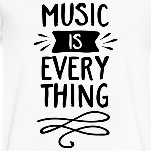 Music Is Everything T-Shirts - Men's V-Neck T-Shirt by Canvas