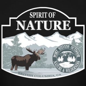 Spirit of nature - Moose in British Columbia T-Shirts - Men's Tall T-Shirt