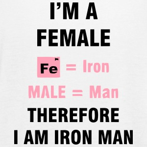 I'M A FEMALE = IRON MAN Tanks - Women's Flowy Tank Top by Bella