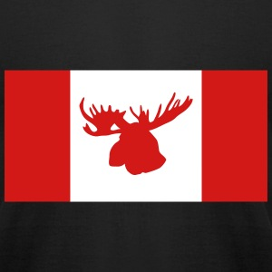 Moose - Canada Flag T-Shirts - Men's T-Shirt by American Apparel