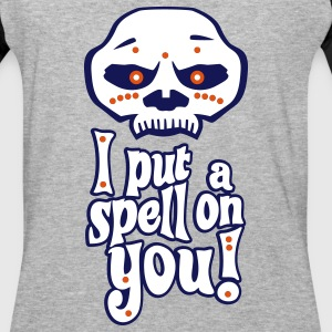 Voodoo Mask I Put A Spell On You! (With Outline) T-Shirts - Baseball T-Shirt