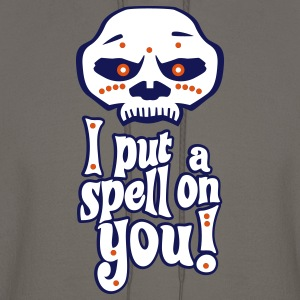 "Voodoo Mask ""I Put A Spell On You!"" (With Outline) Hoodies - Men's Hoodie"